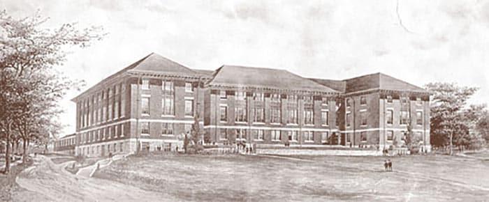 Historical image of Rockefeller Hall